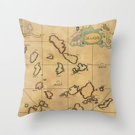 cyclades Throw Pillow