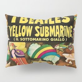 1968 Yellow Submarine Italy Movie Promotional Poster Pillow Sham