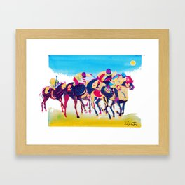 The Melbourne Cup    AUSTRALIA        by Kay Lipton Framed Art Print