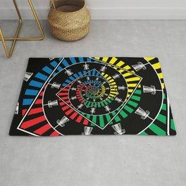 Spinning Disc Golf Baskets Rug
