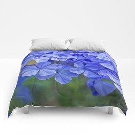 Summer garden blues - macro floral phtography Comforters