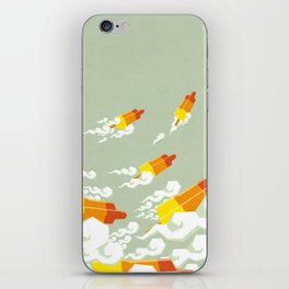 Flight of the rockets iPhone Skin