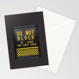 do not block Stationery Cards