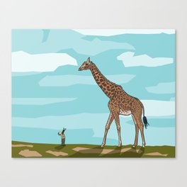 Giraffe riding dreams as yet unfulfilled Canvas Print