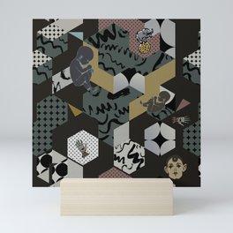Cosmic child | Chocolate version Mini Art Print