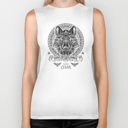 Legend of Zelda Twilight Wolf Link Line Art Biker Tank