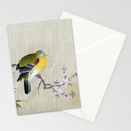 Kano Tsunenobu Bird on a Flowering Branch Stationery Cards