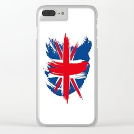 Sketched Union Jack Clear iPhone Case