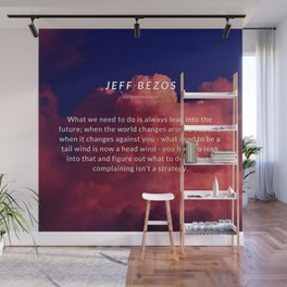 Jeff Bezos Quote On Leaning In To The Future Wall Mural