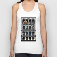 donkey kong Tank Tops featuring Donkey Kong City by Ryan Huddle House of H