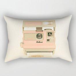 Pink Pola Love vintage camera Rectangular Pillow