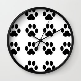 claw black foot chat paw animals Wall Clock