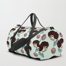 redhead girl blue Duffle Bag