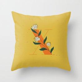 X for Xylosma Throw Pillow