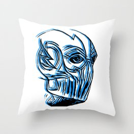 Black Flash Sketch Throw Pillow