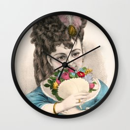 Under the Rose Wall Clock