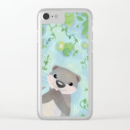 Otter in the Water Clear iPhone Case
