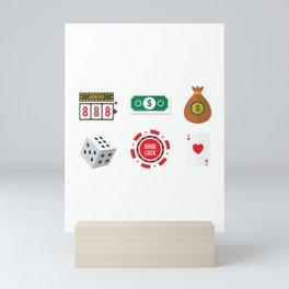 Cash, Slots, Chips, Dice & Cards Nevada Day Mini Art Print