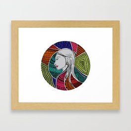 Geometric Girl Framed Art Print