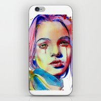 lavender iPhone & iPod Skins featuring Lavender by Olga Noes