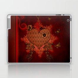 Wonderful heart made of metal Laptop & iPad Skin