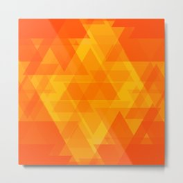 Bright orange and yellow triangles in the intersection and overlay. Metal Print