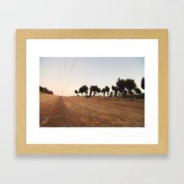 Sunset at Mt Crawford Framed Art Print