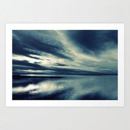 Skylight in Blue Art Print