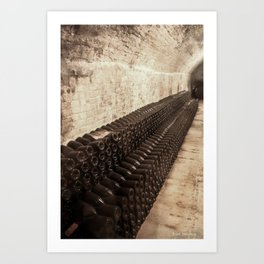 Bottled Up (Wine) Art Print
