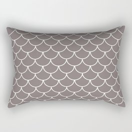 Warm Gray Scales Rectangular Pillow