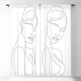 Shy Portrait Blackout Curtain