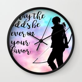 May the odds be ever in your favor Wall Clock