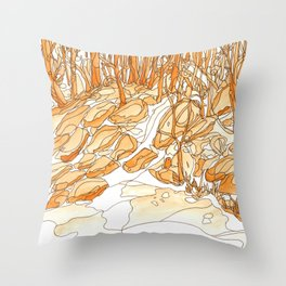 Eno River 35 Throw Pillow