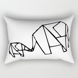 Origami Elephants (mom and baby) Rectangular Pillow