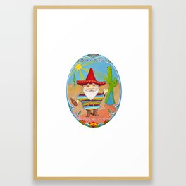 Mexican Gnome Framed Art Print