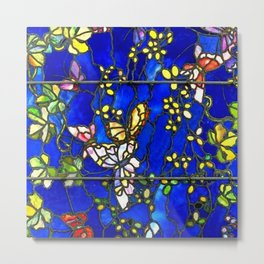 "John La Farge ""Butterflies and Foliage"" window. 1889 (2.) Metal Print"