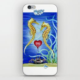 SEAHORSES IN LOVE iPhone Skin