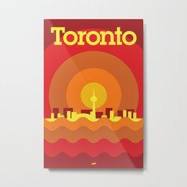 Toronto Minimalism Poster - Summer Red Metal Print