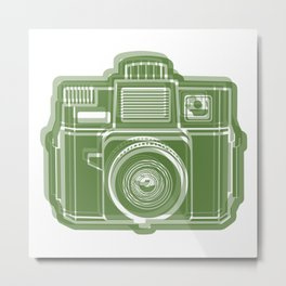 I Still Shoot Film Holga Logo - Green Metal Print