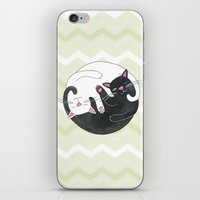 philosophy iPhone & iPod Skins featuring Cat Philosophy by Emily Andrus Lopuch