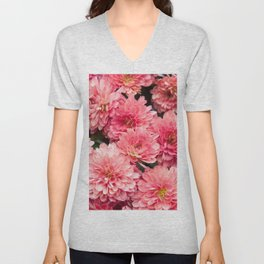 Autumn Kiss Chrysanthemums #1 #floral #art #Society6 Unisex V-Neck