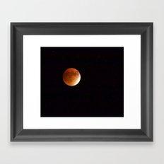 Super Harvest Moon Eclipse Framed Art Print