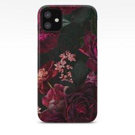 Vintage & Shabby Chic - Night Botanical Flower Roses Garden iPhone Case