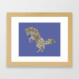 Lace Fox Framed Art Print