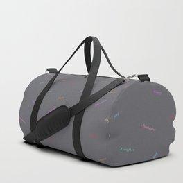 Abundance Print, storm gray Duffle Bag
