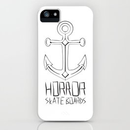 Horror Skateboards anchor  iPhone Case