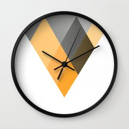 Landscape in Orange Wall Clock