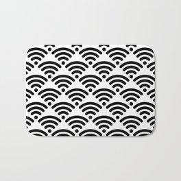 WiFi Pattern (black on white version) Bath Mat