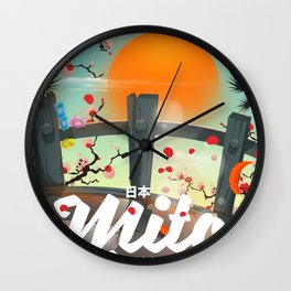 Mito Japan travel poster Wall Clock
