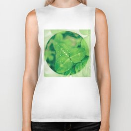 Clover leaf in the rain Biker Tank